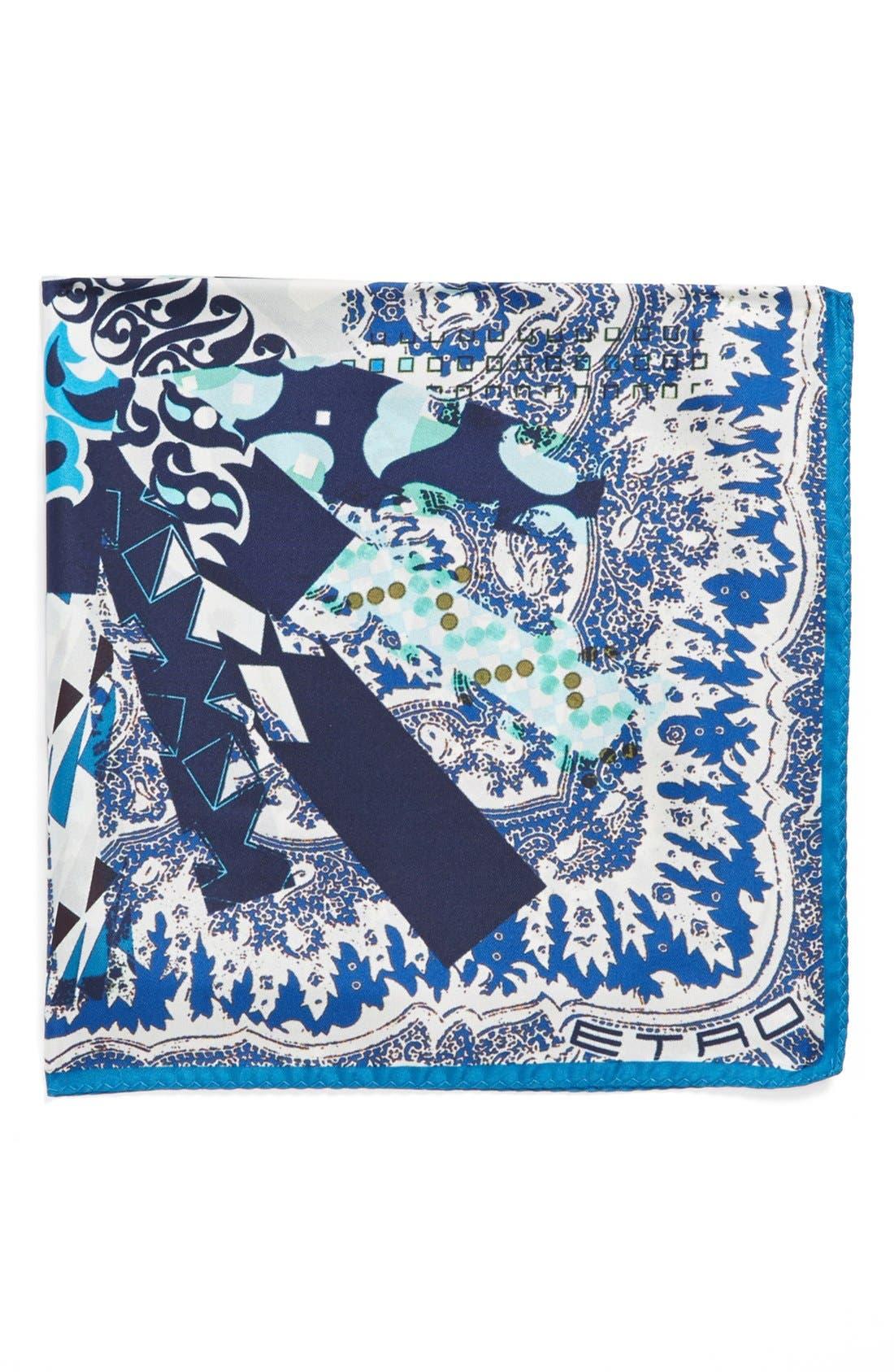 Main Image - Etro Paisley Silk Pocket Square