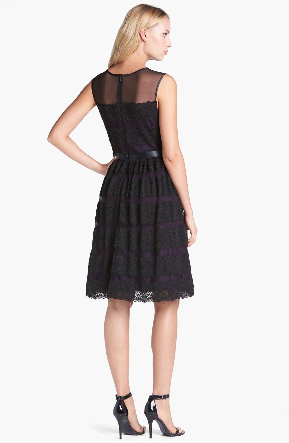 Alternate Image 2  - Alex Evenings Lace Fit & Flare Dress (Petite)