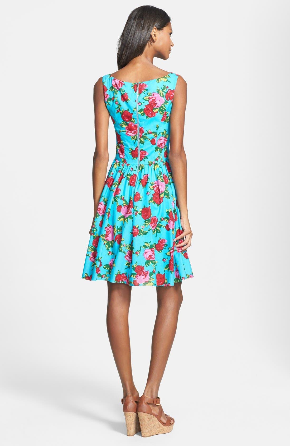 Alternate Image 3  - Betsey Johnson Floral Fit & Flare Dress
