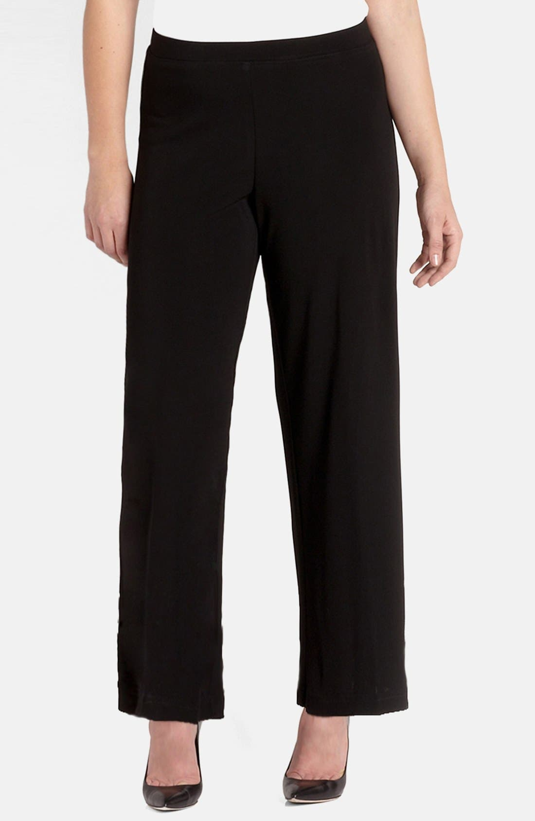 Karen Kane Straight Leg Matte Jersey Pants (Plus Size)