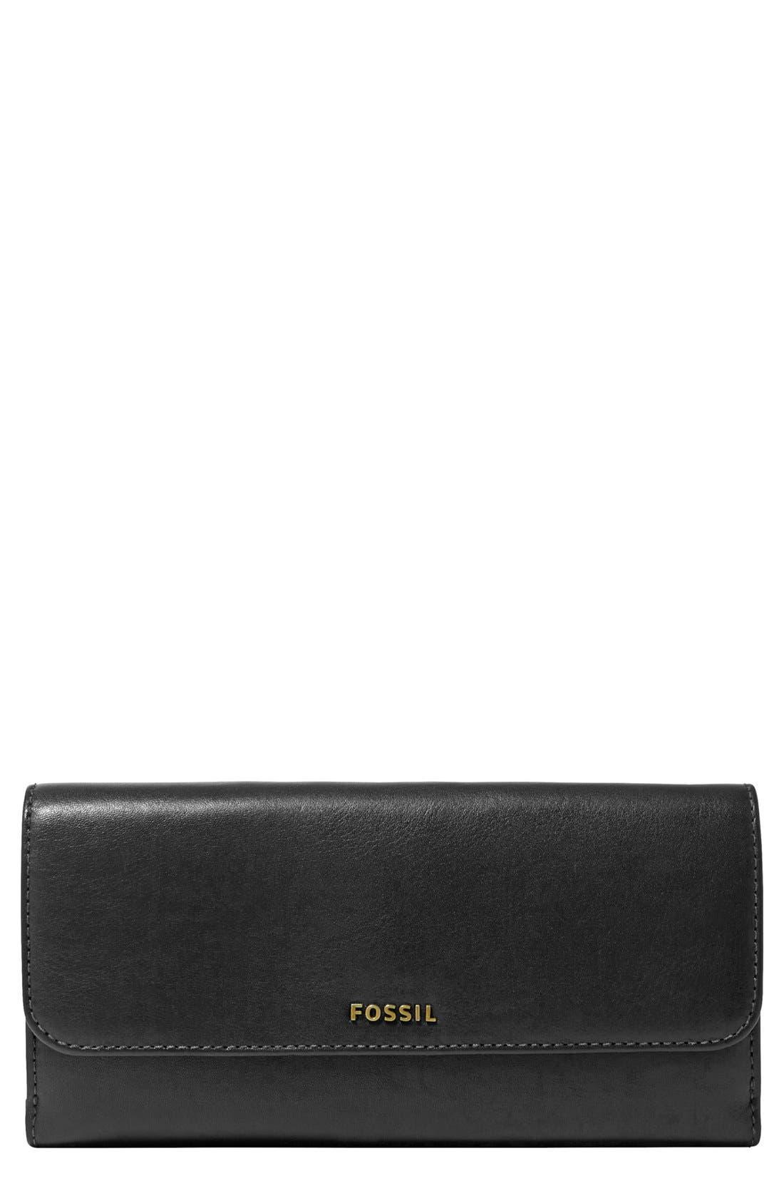 Main Image - Fossil 'Memoir' Checkbook Wallet