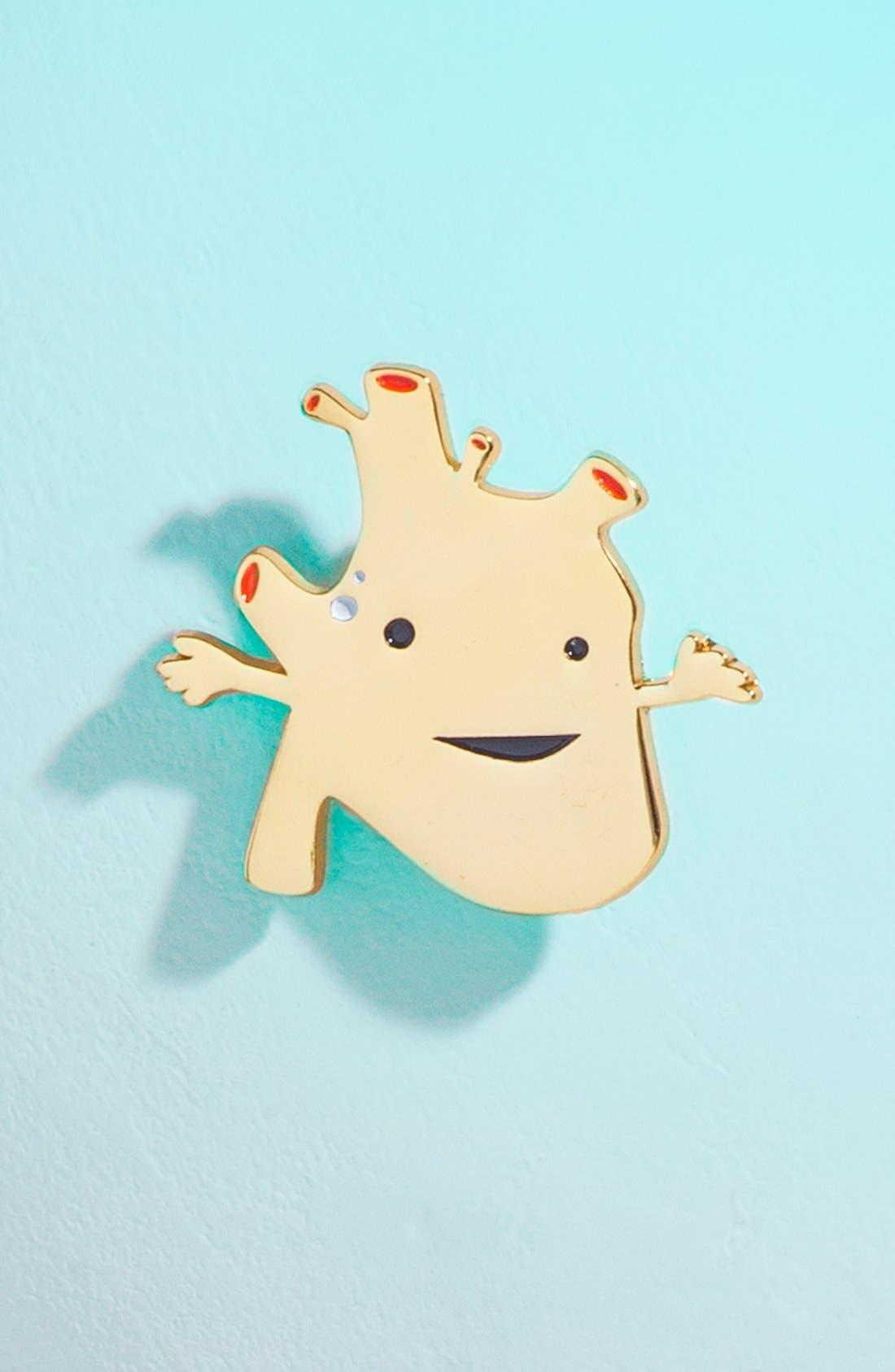 Main Image - I Heart Guts 'Heart of Gold' Heart Lapel Pin