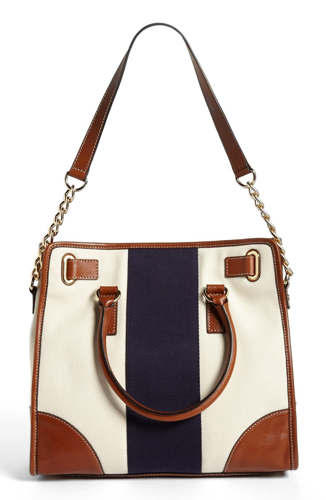 Alternate Image 4  - MICHAEL Michael Kors 'Large Hamilton' Canvas Tote
