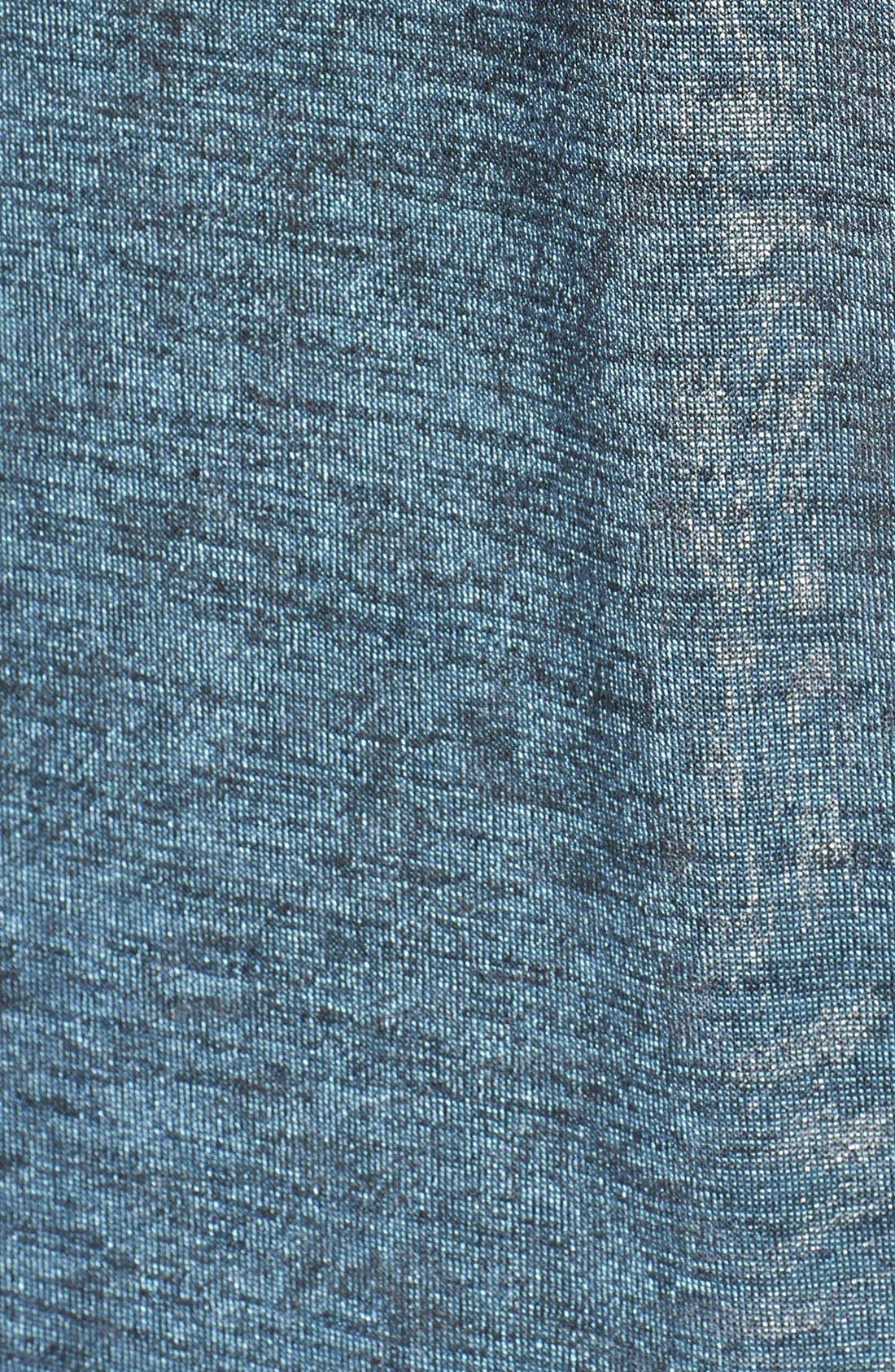 Alternate Image 3  - June & Hudson V-Neck Metallic Tunic Sweater