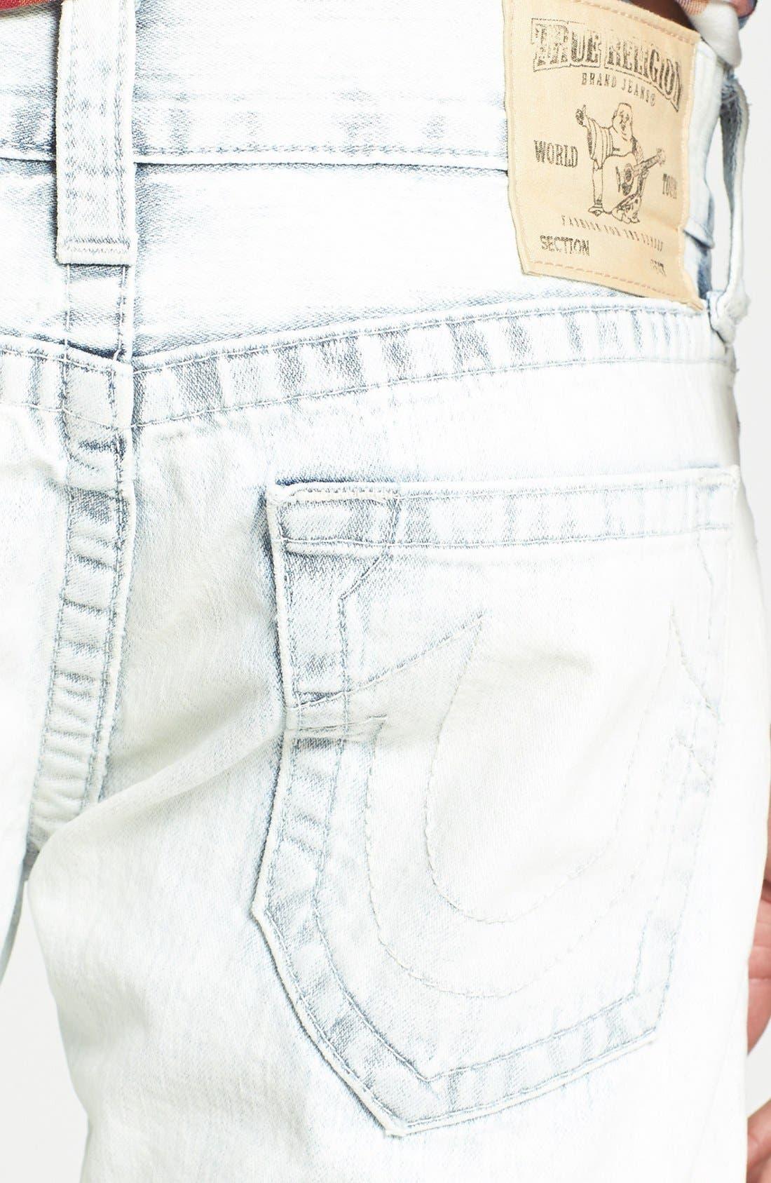 Alternate Image 4  - True Religion Brand Jeans 'Geno' Straight Leg Jeans (Azml White Keys)