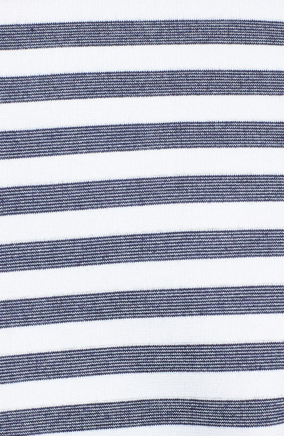 Alternate Image 3  - Eliza J Stripe & Lace Ponte Knit Shift Dress (Plus Size)