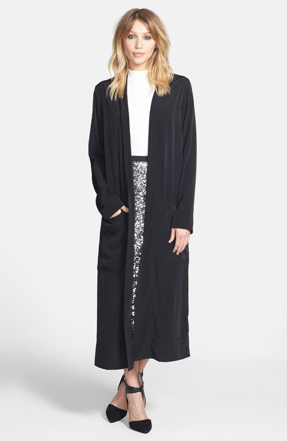 Main Image - Leith Long Woven Cardigan