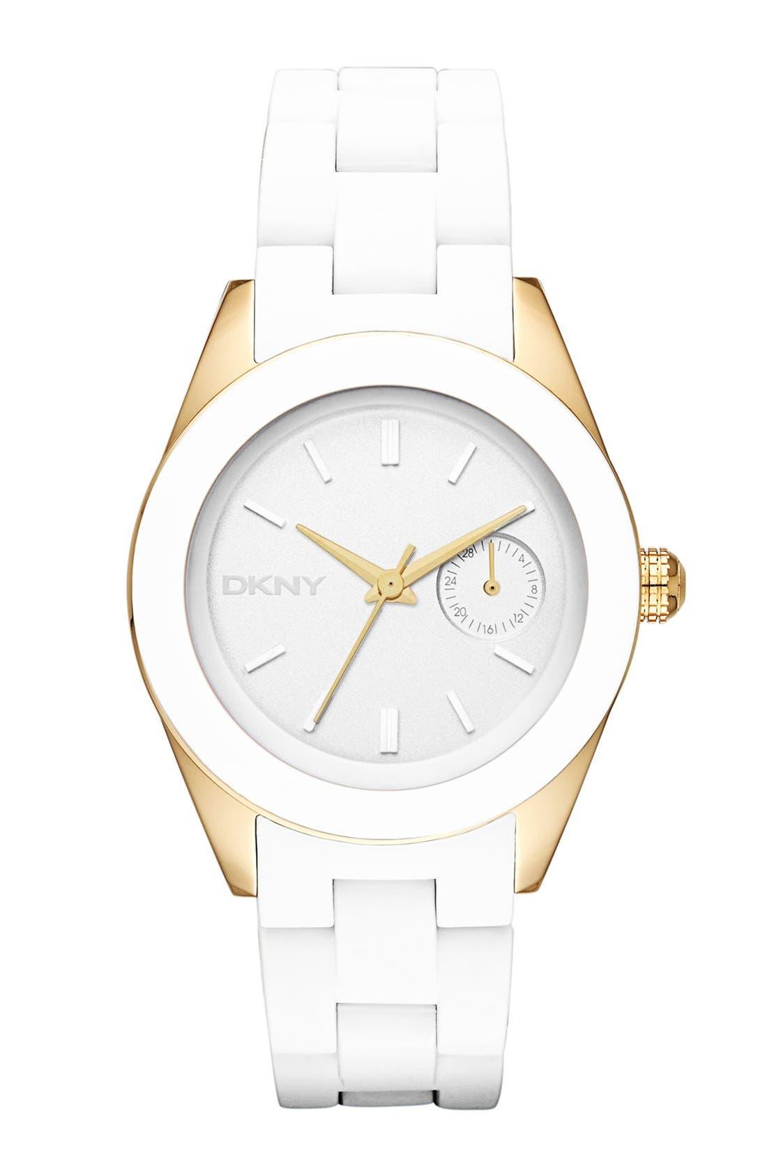 Alternate Image 1 Selected - DKNY 'Jitney' Round Bracelet Watch, 36mm