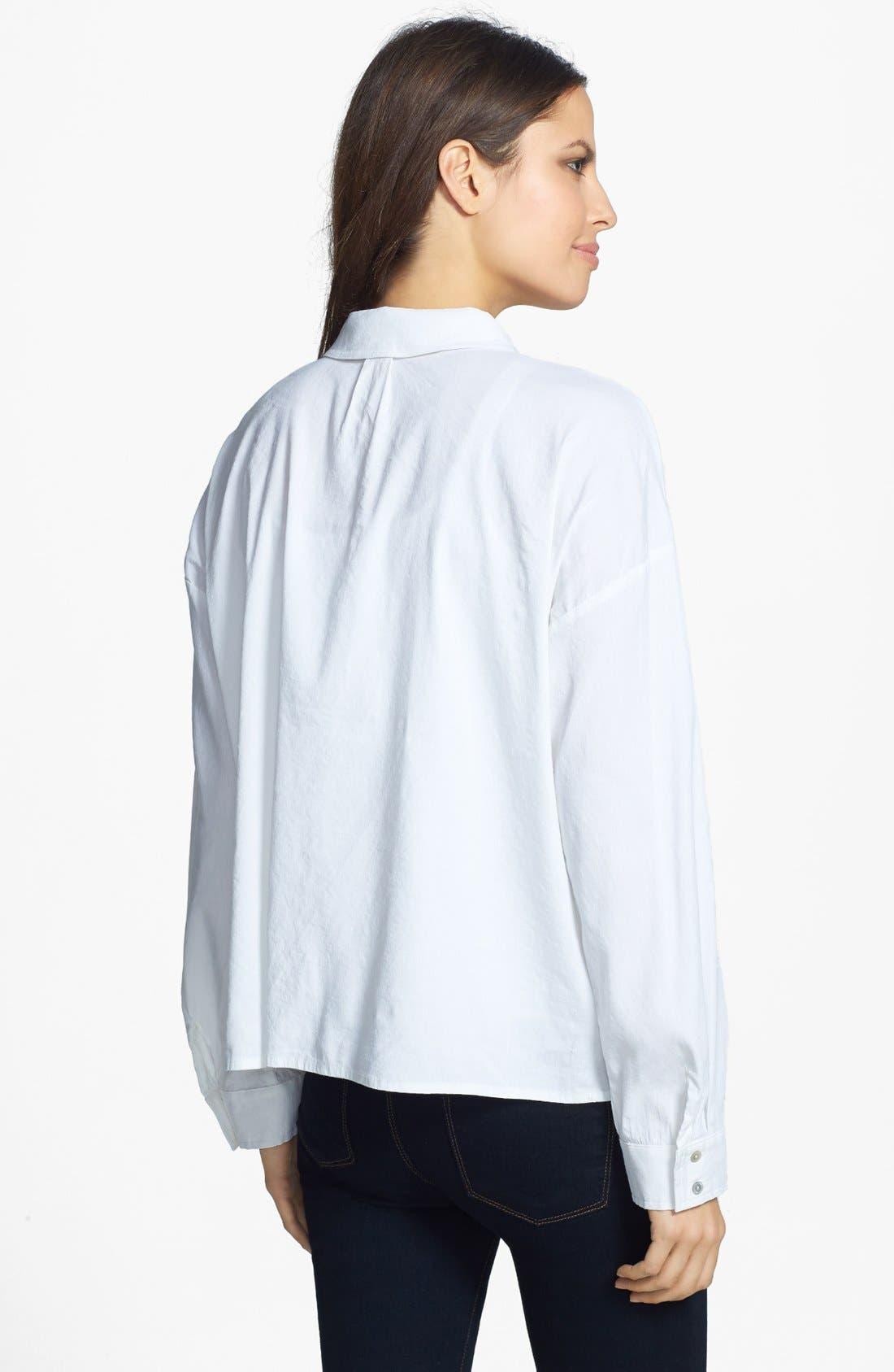 Alternate Image 2  - Eileen Fisher Classic Collar Linen Blend Shirt