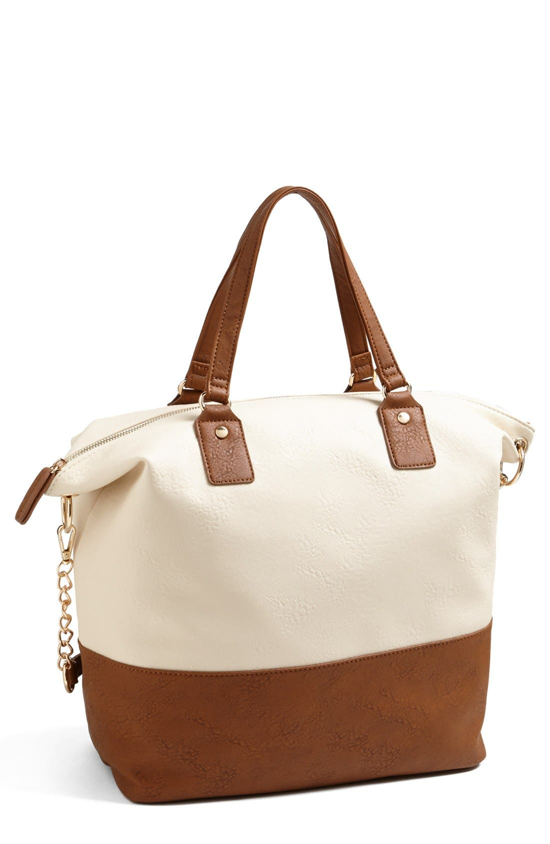 Main Image - Cesca Two-Tone Tote (Juniors)