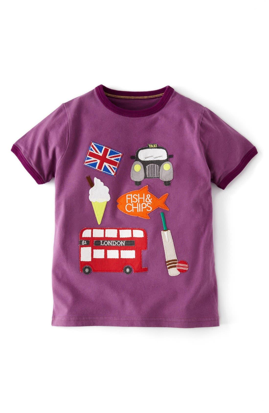 Alternate Image 1 Selected - Mini Boden 'Doing Stuff' Short Sleeve T-Shirt (Toddler Boys, Little Boys & Big Boys)