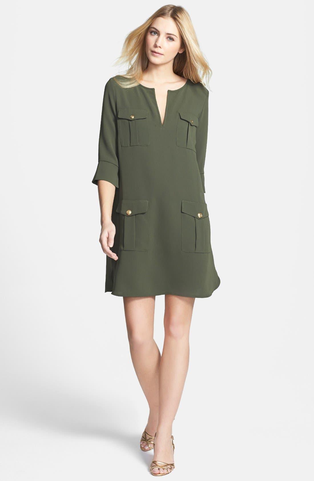 Alternate Image 1 Selected - Diane von Furstenberg 'Agness' Woven Shift Dress