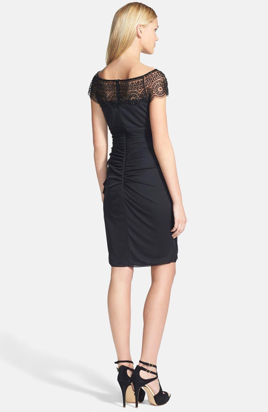 Alternate Image 3  - Xscape Embellished Ruched  Sheath Dress