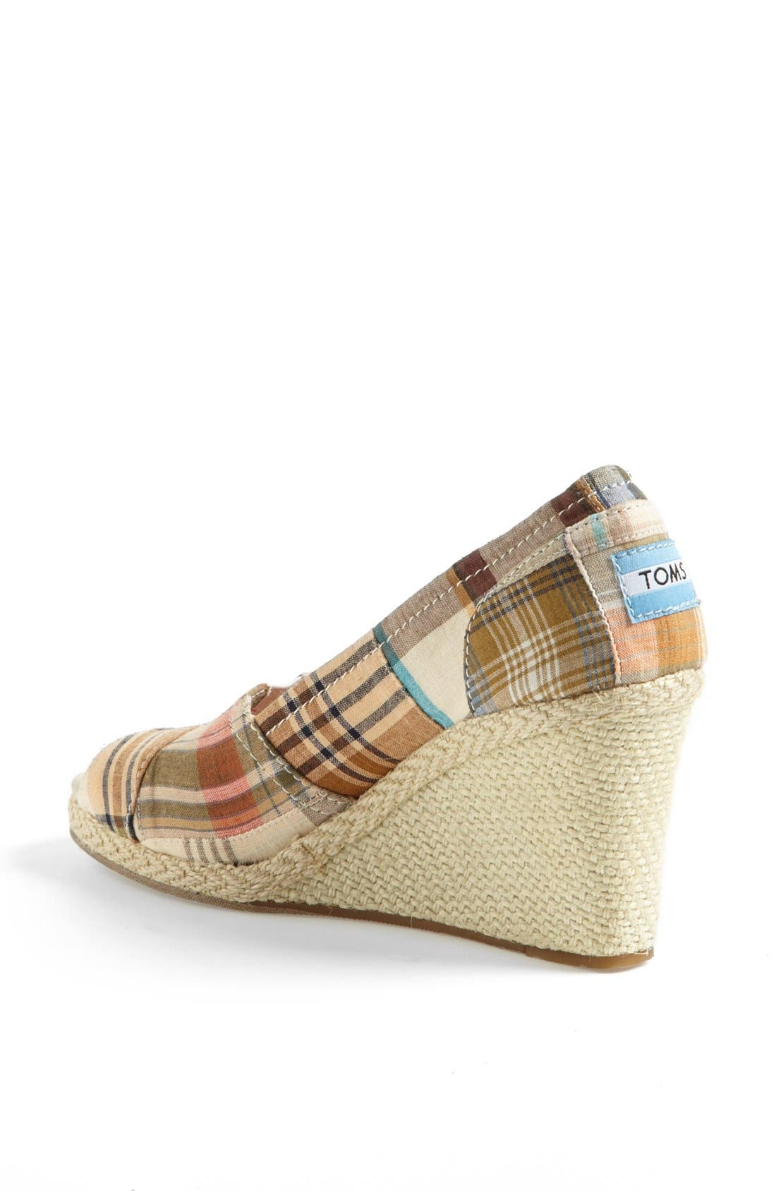 Alternate Image 2  - TOMS 'Madras Plaid' Wedge (Women)