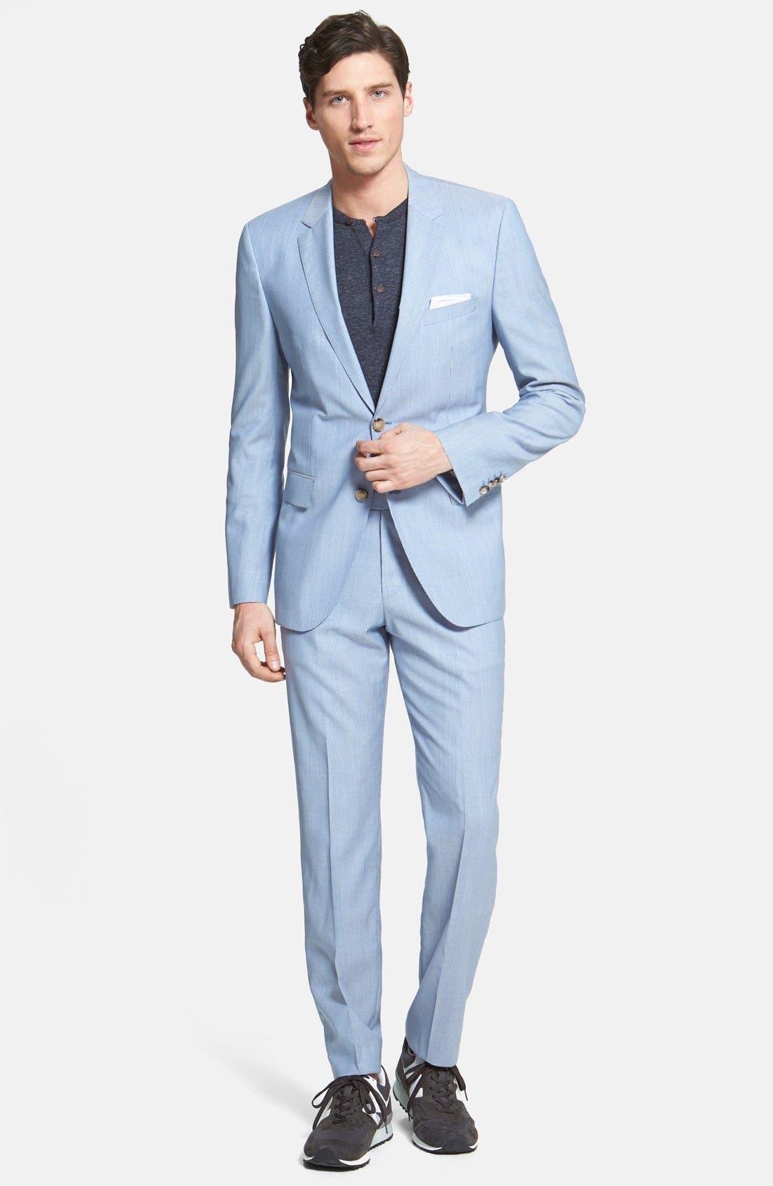 Alternate Image 1 Selected - BOSS HUGO BOSS 'James/Sharp' Trim Fit Virgin Wool Suit