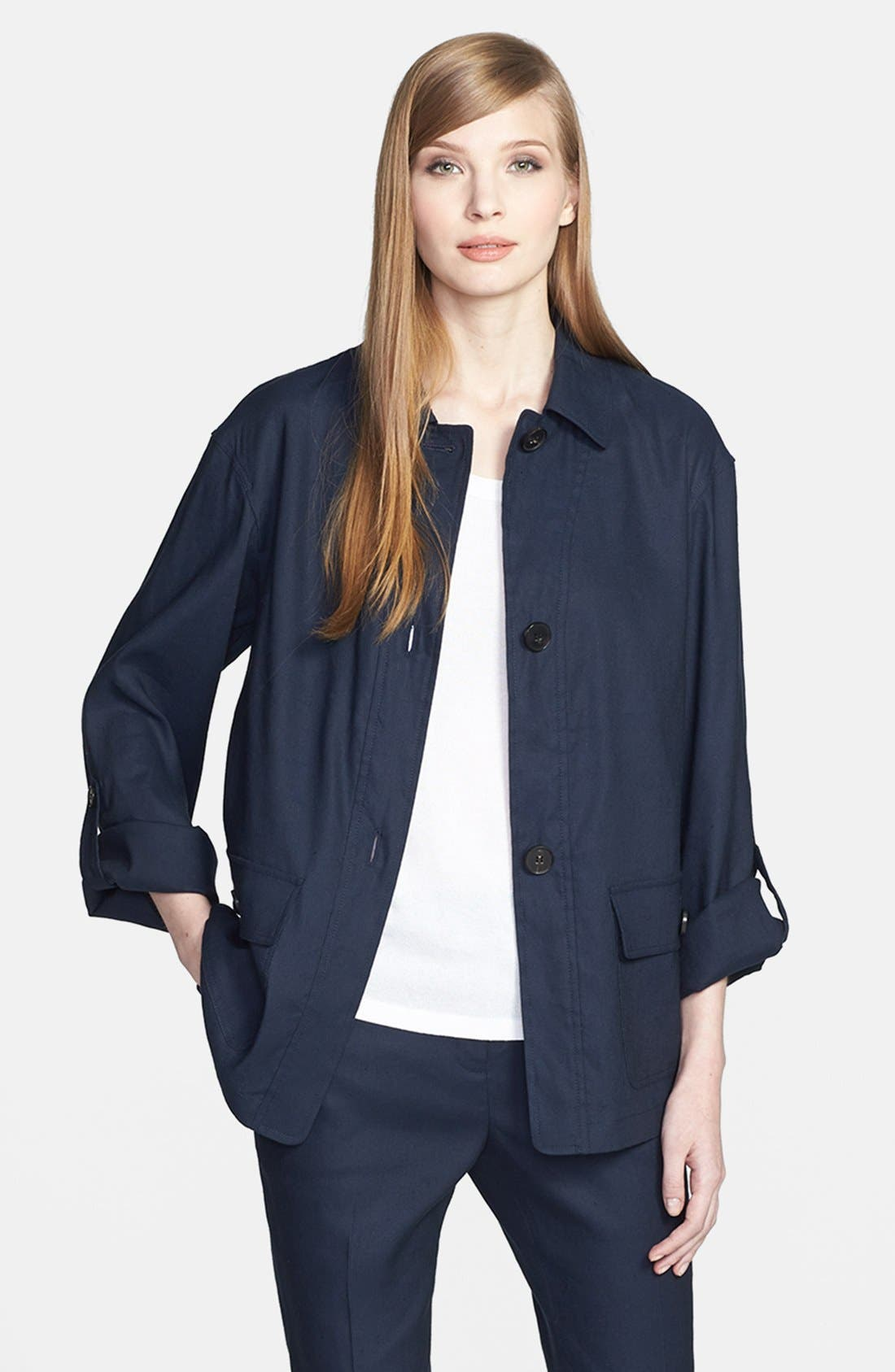 Alternate Image 1 Selected - Lafayette 148 New York 'Toby' Linen Blend Jacket