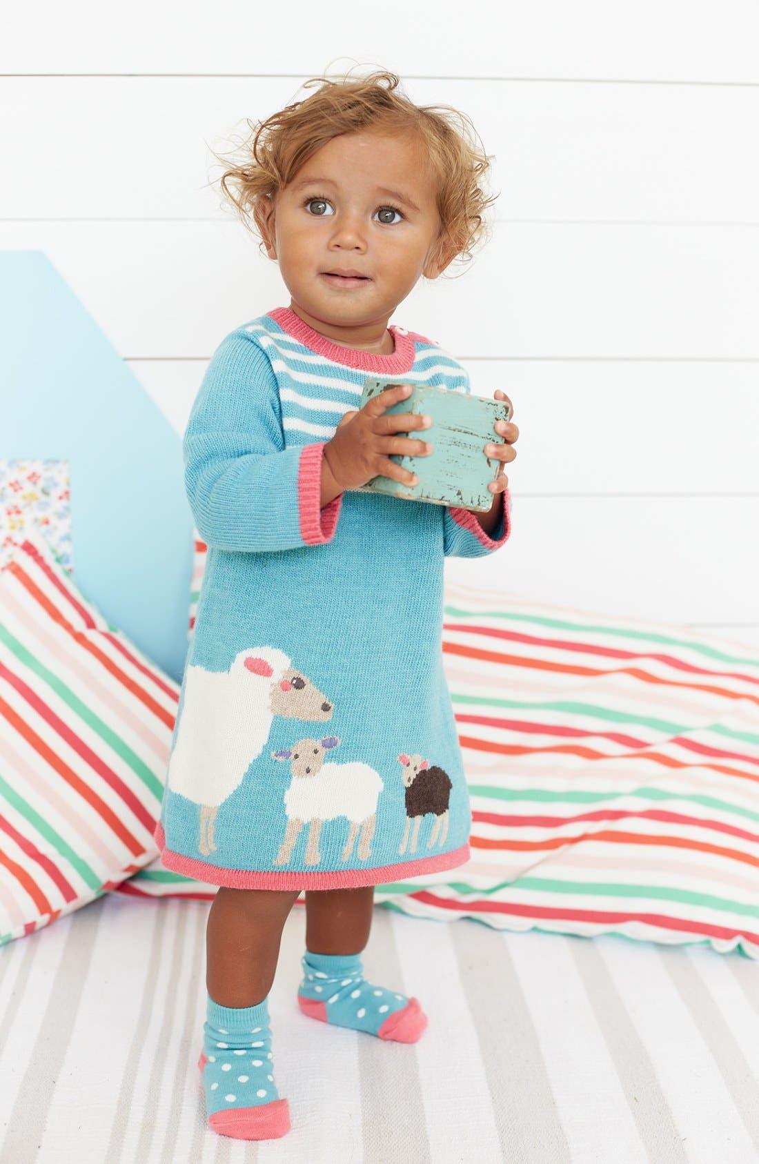 Alternate Image 2  - Mini Boden 'My Baby' Knit Dress (Baby Girls)