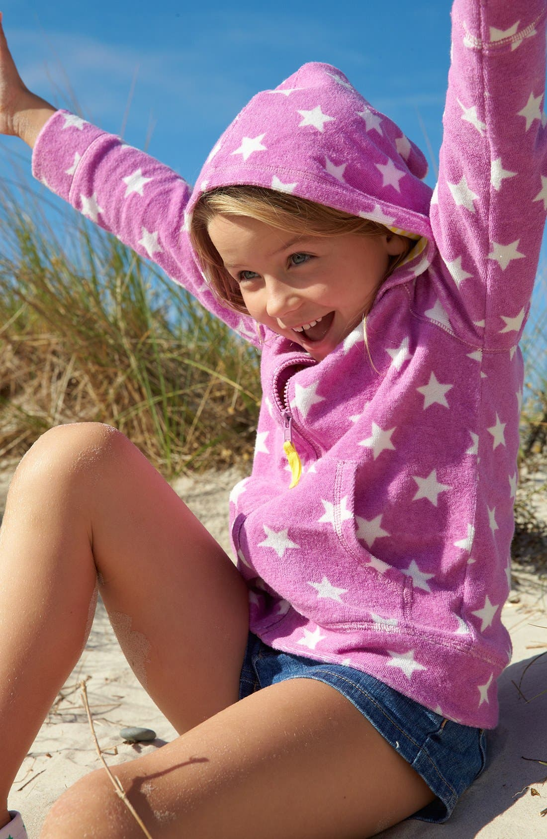 Alternate Image 2  - Mini Boden 'Towelling' Hoodie (Toddler Girls, Little Girls & Big Girls)(Online Only)