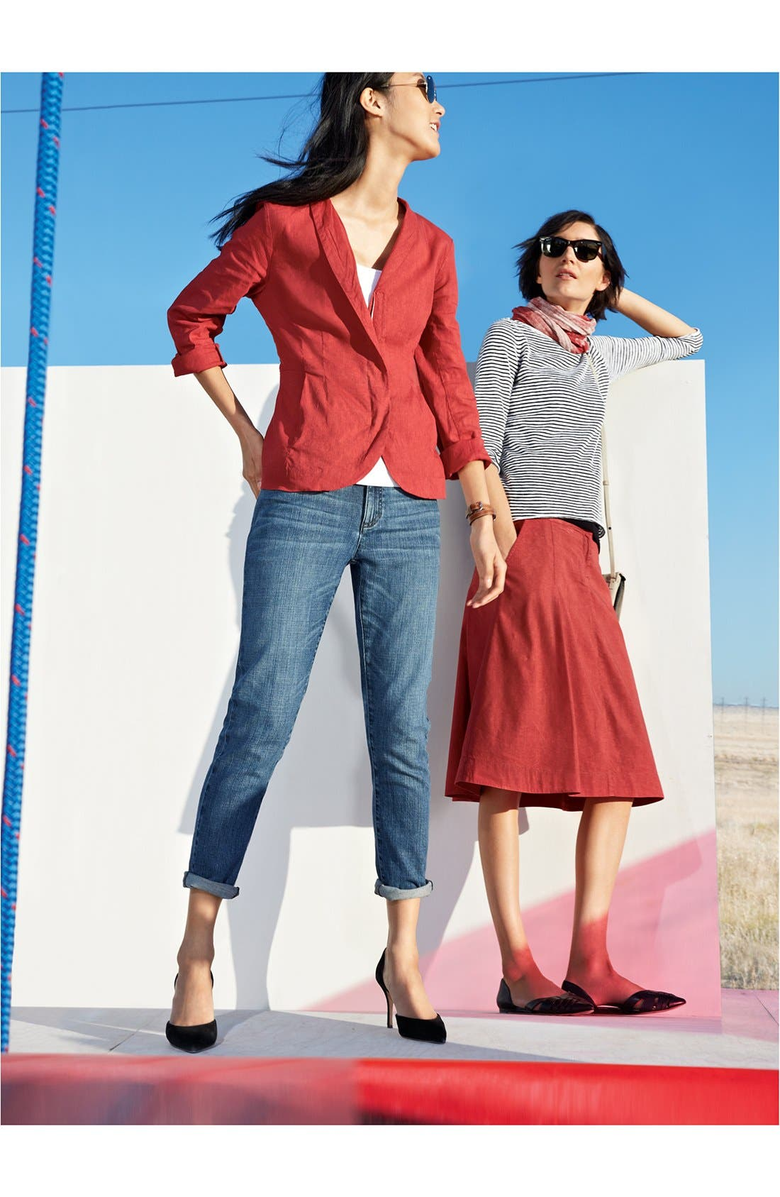 Alternate Image 3  - Eileen Fisher Boatneck Stripe Sweater