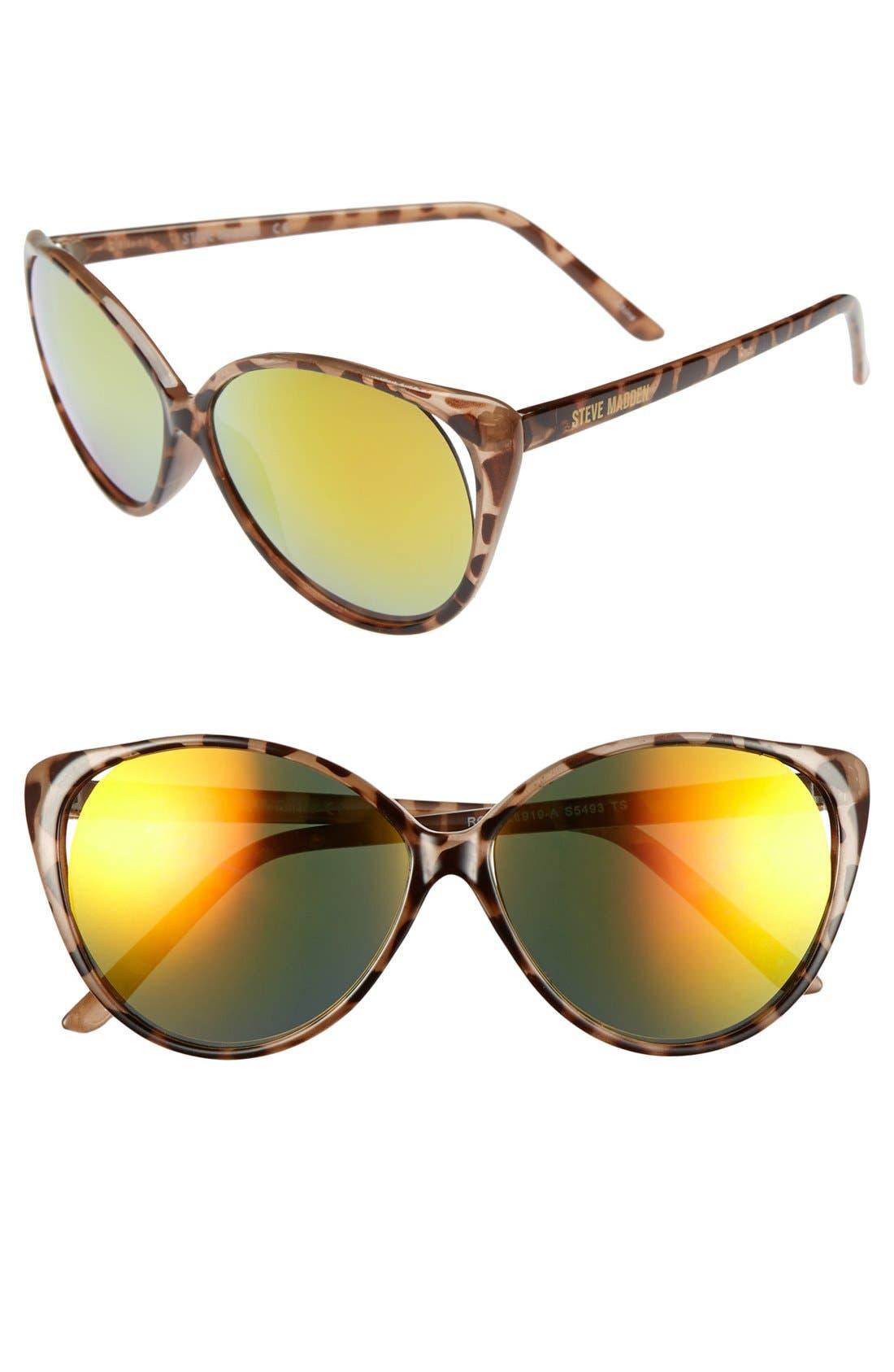 Alternate Image 1 Selected - Steve Madden 60mm Vented Cat Eye Sunglasses