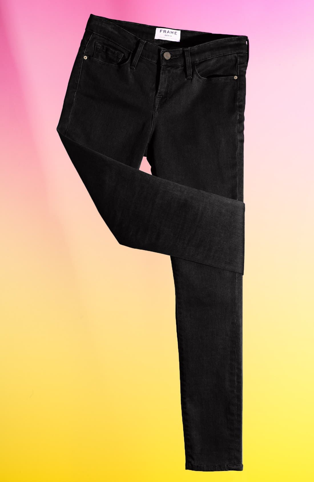 Main Image - Frame Denim 'Le Luxe Noir' Skinny Jeans (Vian)