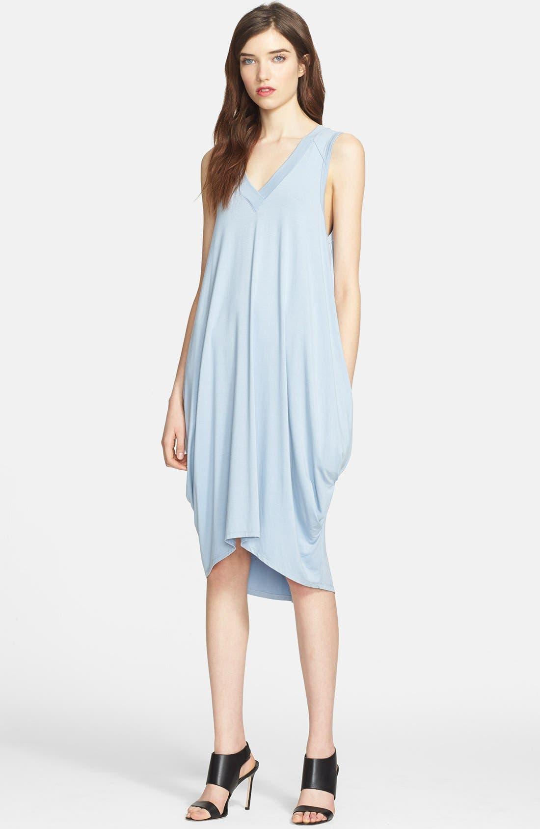 Alternate Image 1 Selected - L'AGENCE Draped Jersey Tunic Dress