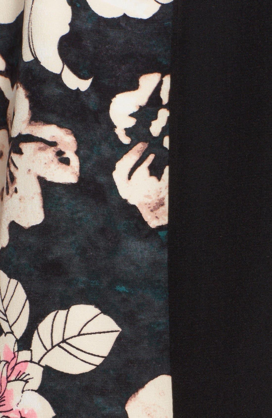 Alternate Image 3  - Elizabeth and James 'Montana' Mixed Media Shift Dress