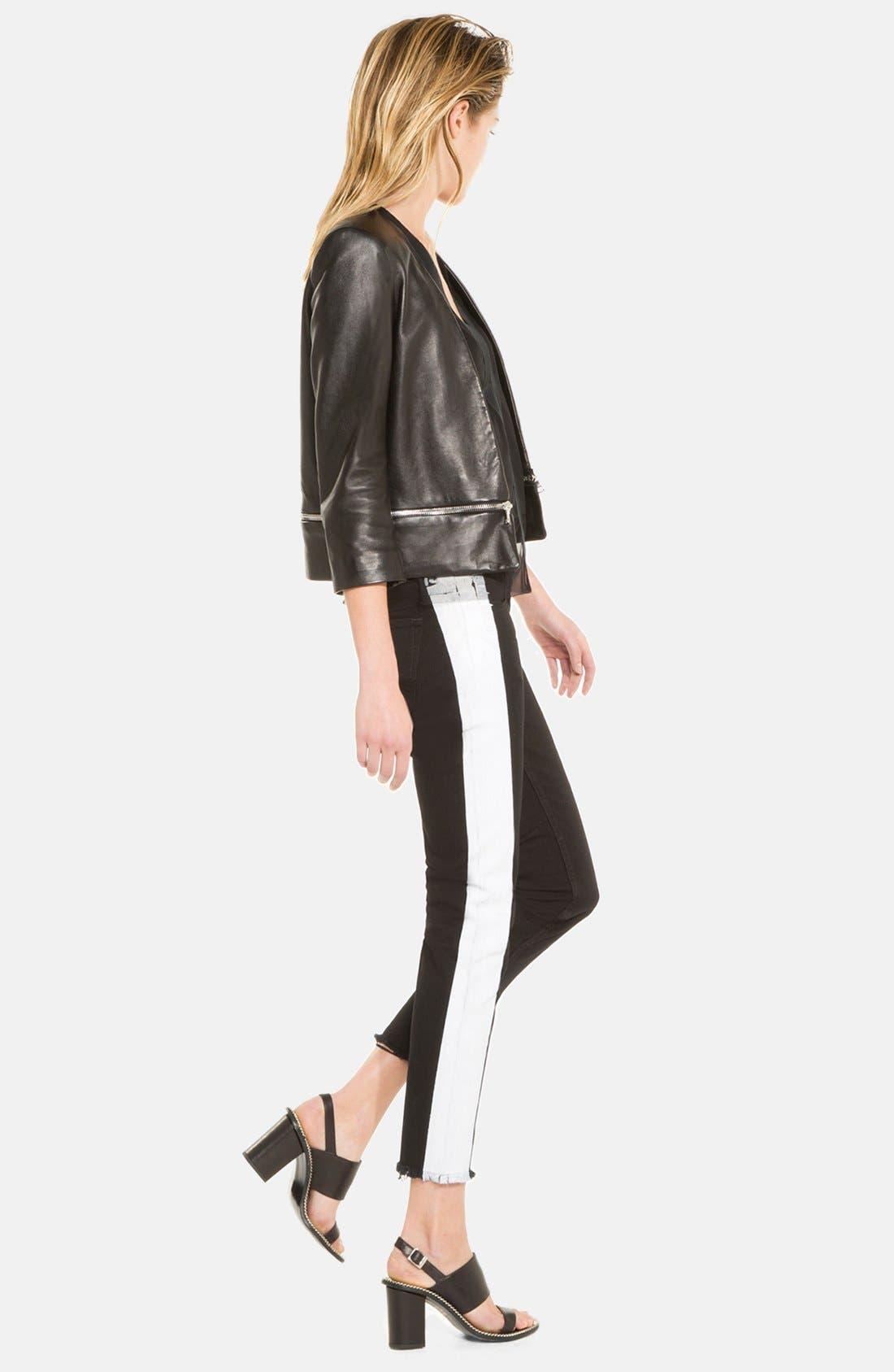 Alternate Image 3  - sandro 'Voeu' Leather Jacket
