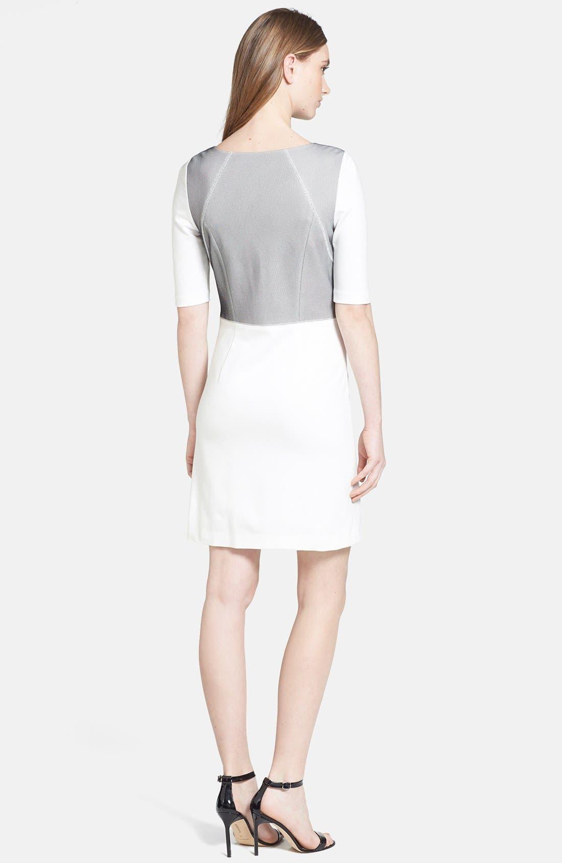 Alternate Image 2  - Trina Turk 'Milena' Mesh Panel Ponte Dress
