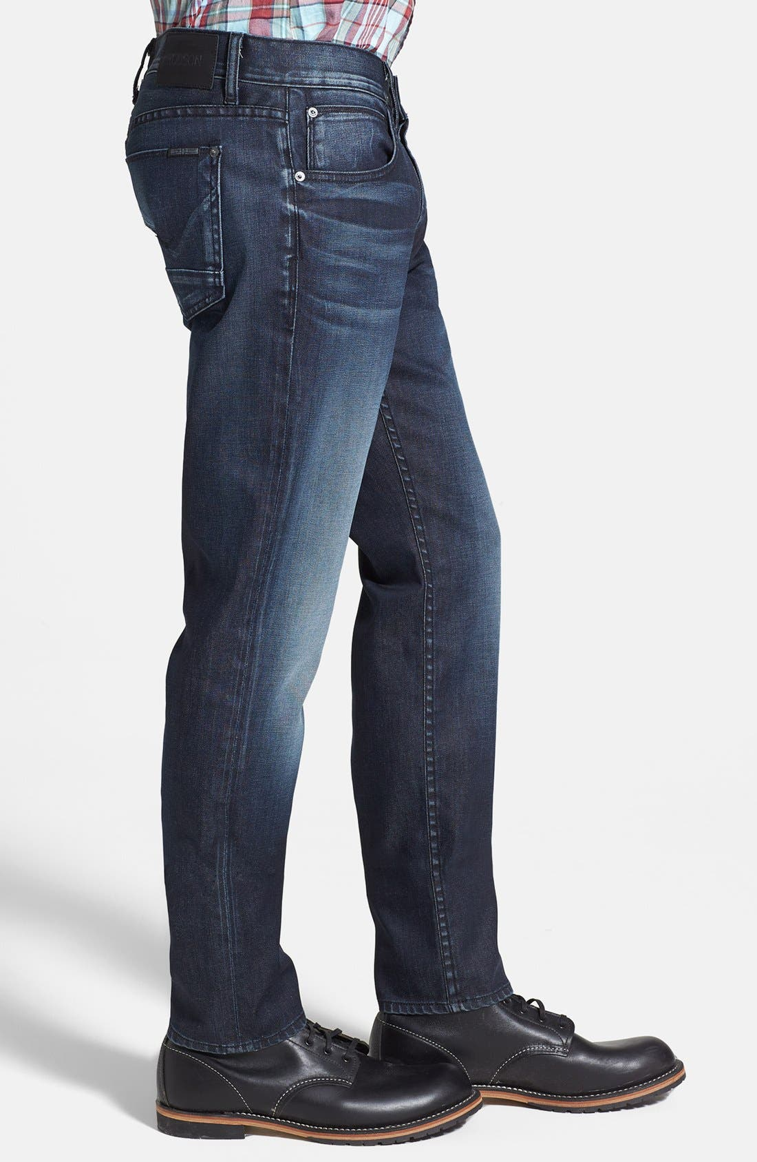 Alternate Image 3  - Hudson Jeans 'Blake' Slim Straight Leg Jeans (Darkness)