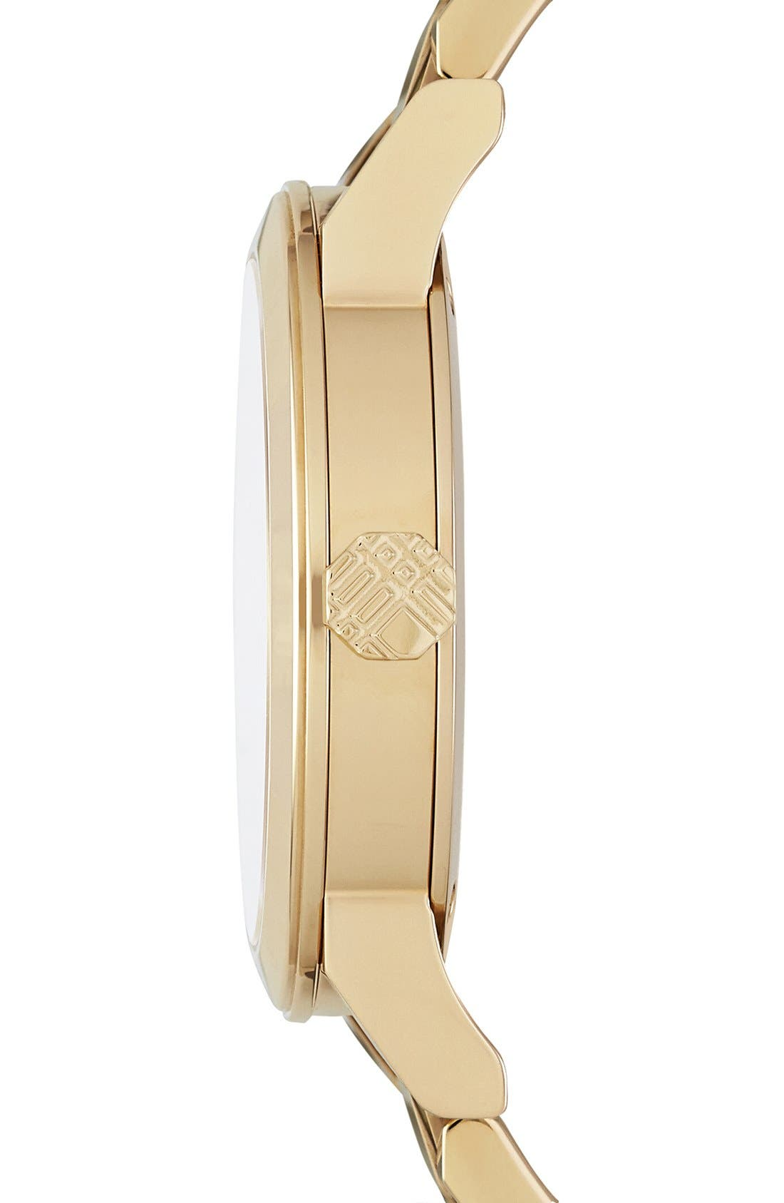 Alternate Image 4  - Burberry Check Stamped Round Bracelet Watch, 34mm