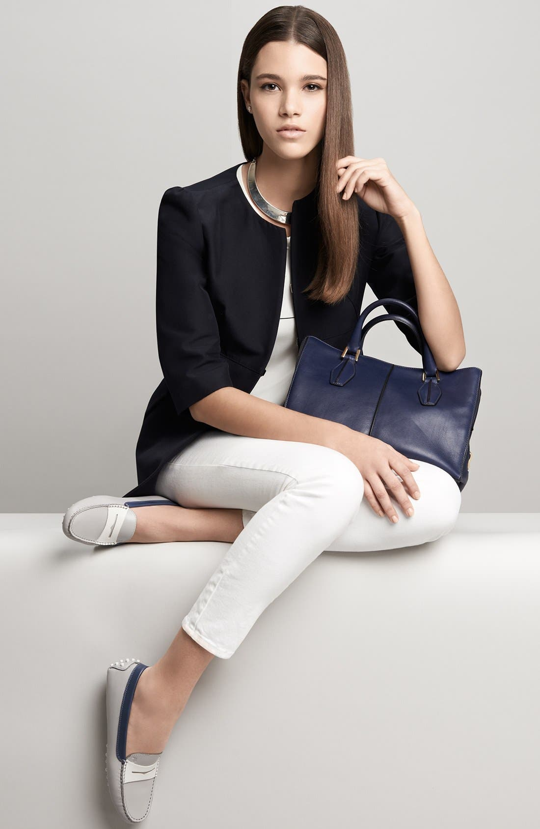 Alternate Image 5  - Tod's 'Gommini' Colorblocked Leather Driving Moccasin