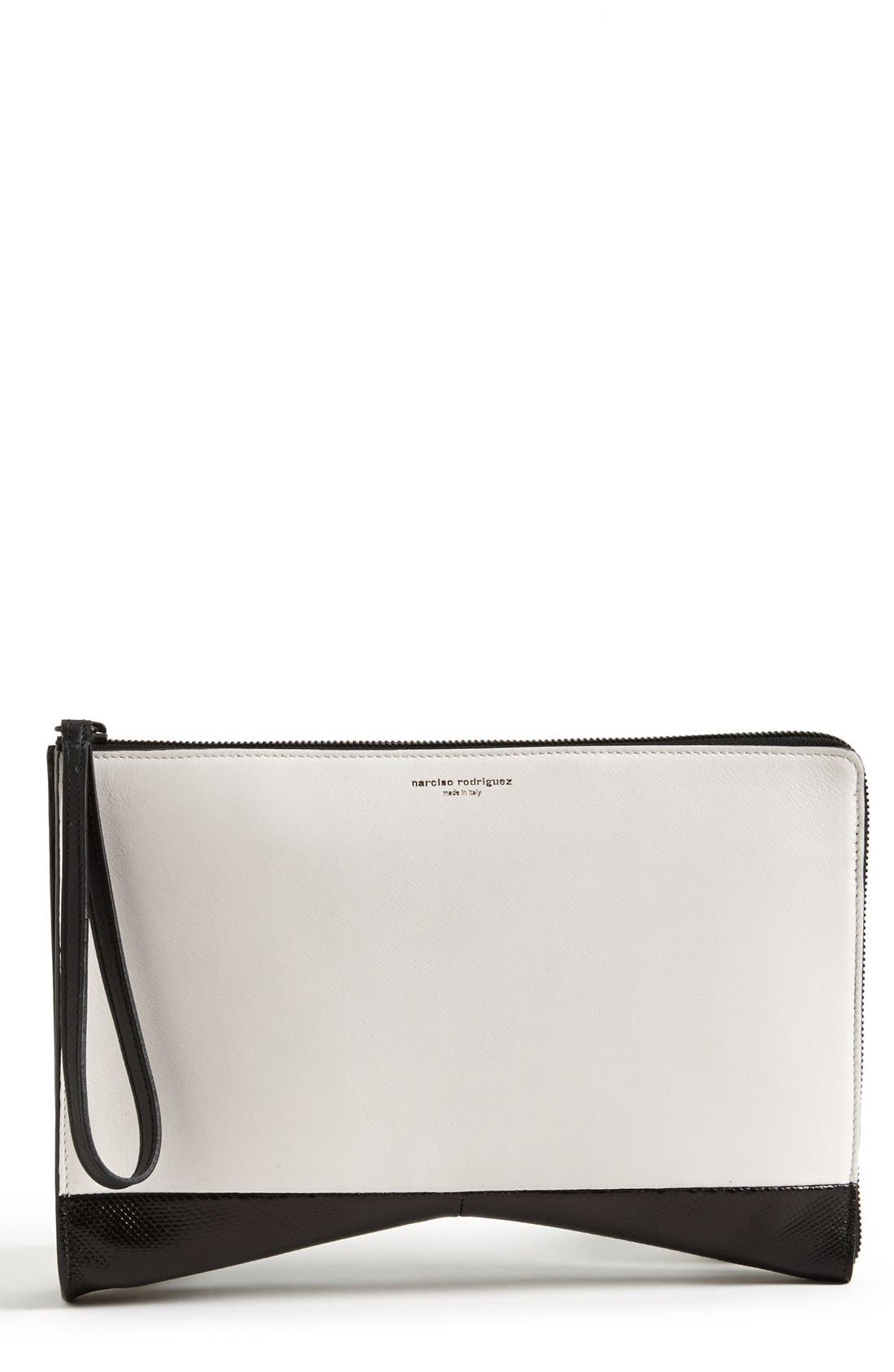Alternate Image 4  - Narciso Rodriguez 'Boomerang' Genuine Python, Lizard & Leather Clutch