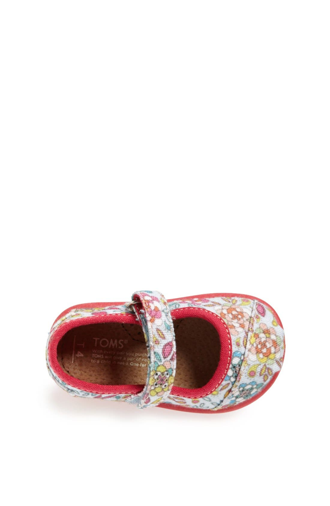 Alternate Image 3  - TOMS 'Tiny - Inked Floral' Mary Jane Flat (Baby, Walker & Toddler)