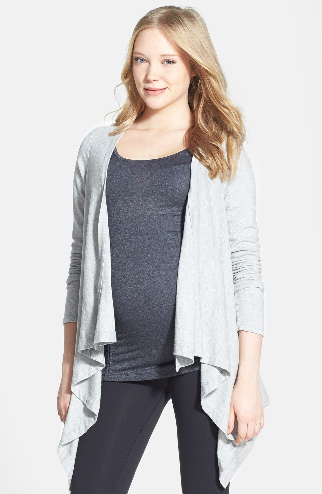 Main Image - Beyond Yoga Drape Front Maternity Cardigan