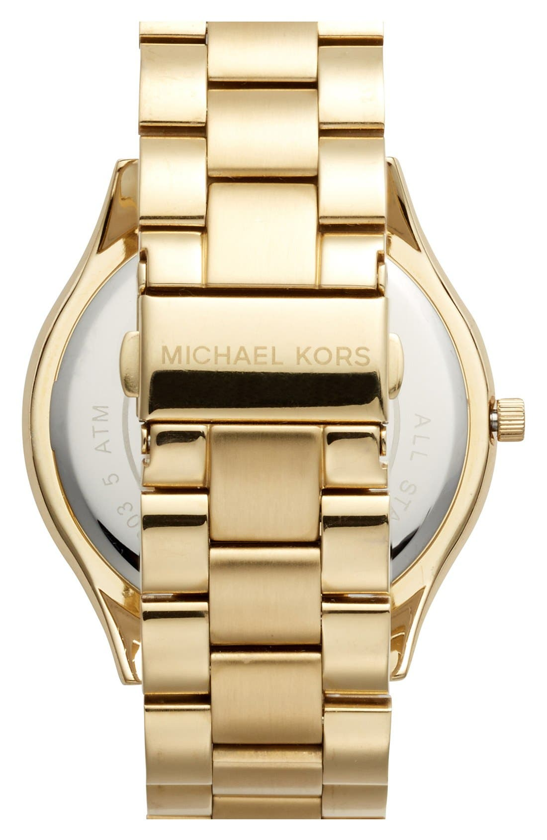 Alternate Image 2  - Michael Kors 'Slim Runway' Bracelet Watch, 42mm
