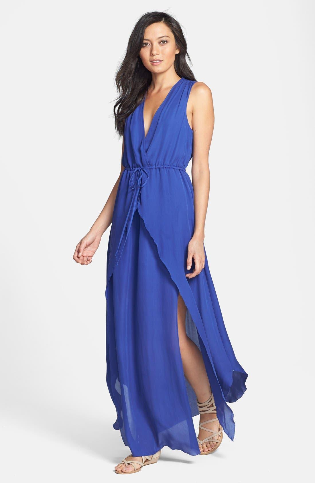Main Image - Madison Marcus Silk Chiffon Maxi Dress