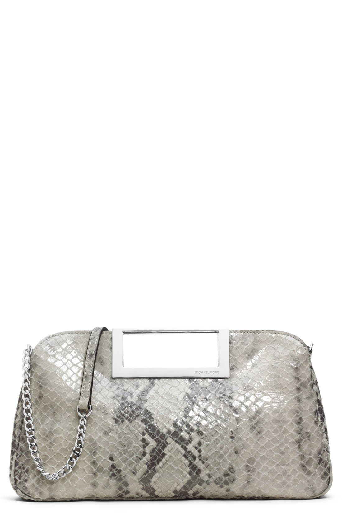Main Image - MICHAEL Michael Kors Snake Embossed Clutch