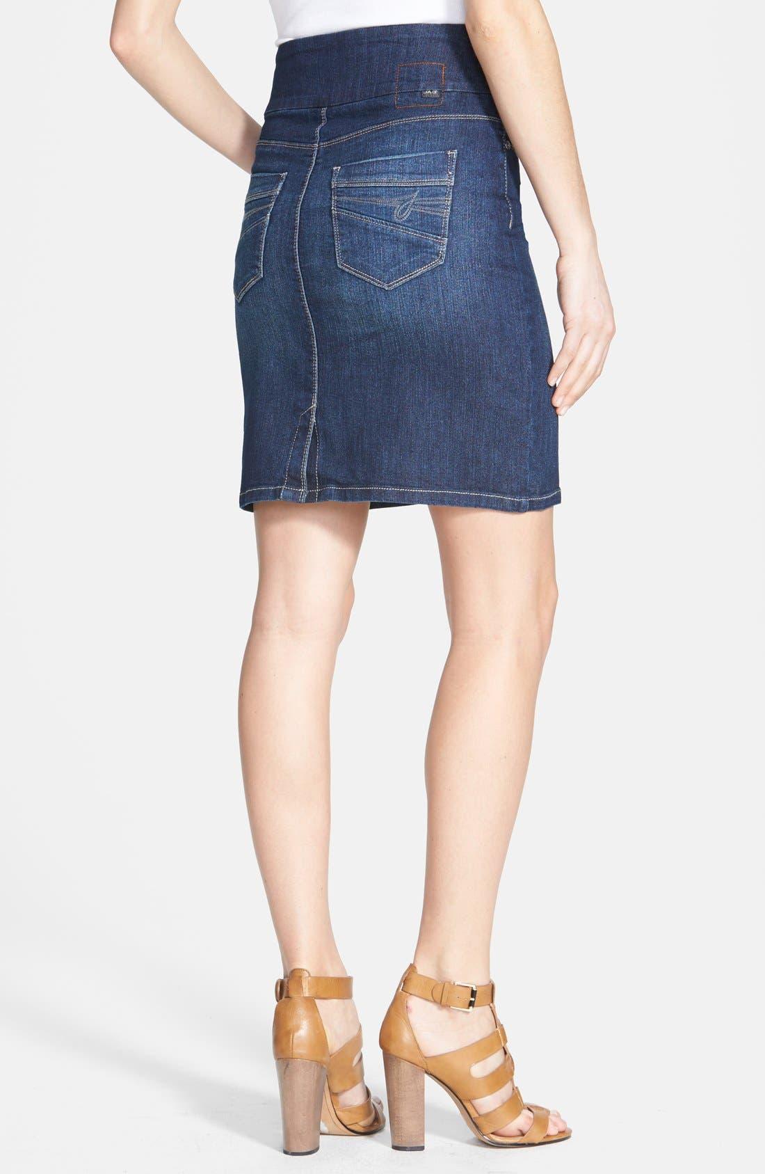 Alternate Image 2  - Jag Jeans 'Eloise' Pull-On Stretch Denim Skirt (Regular & Petite)