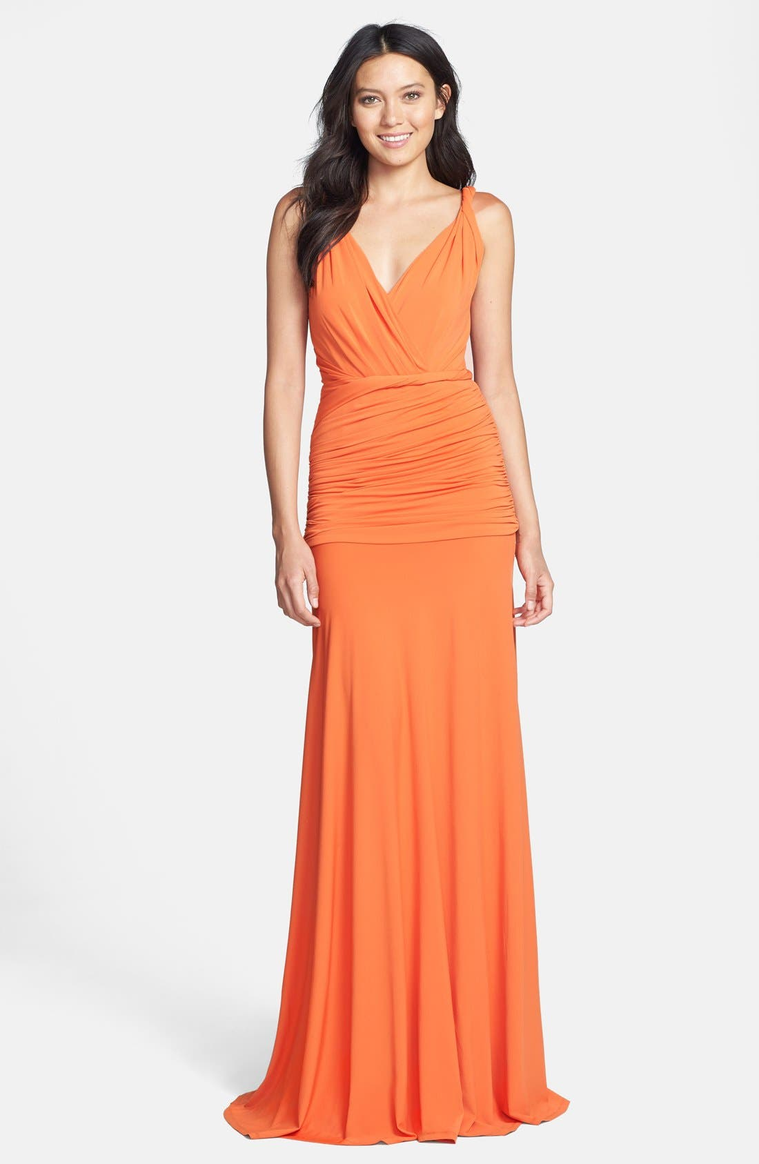 Alternate Image 1 Selected - Halston Heritage Ruched Jersey Gown