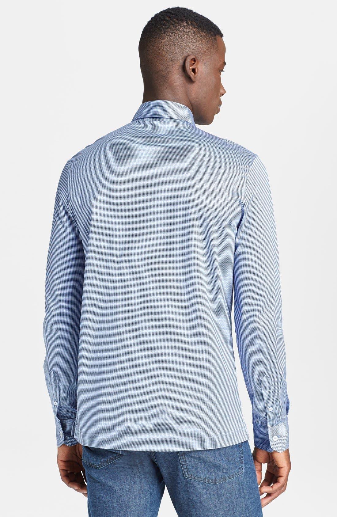 Alternate Image 2  - Canali Jersey Italian Sport Shirt