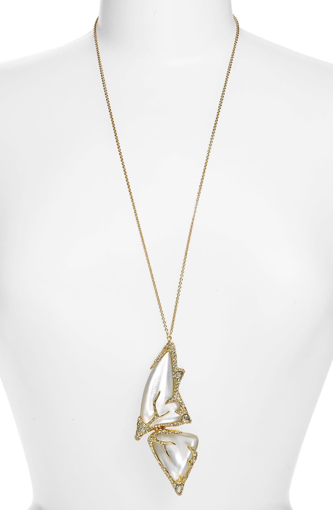 Alternate Image 1 Selected - Alexis Bittar 'Lucite® - Jardin Mystère' Long Butterfly Pendant Necklace