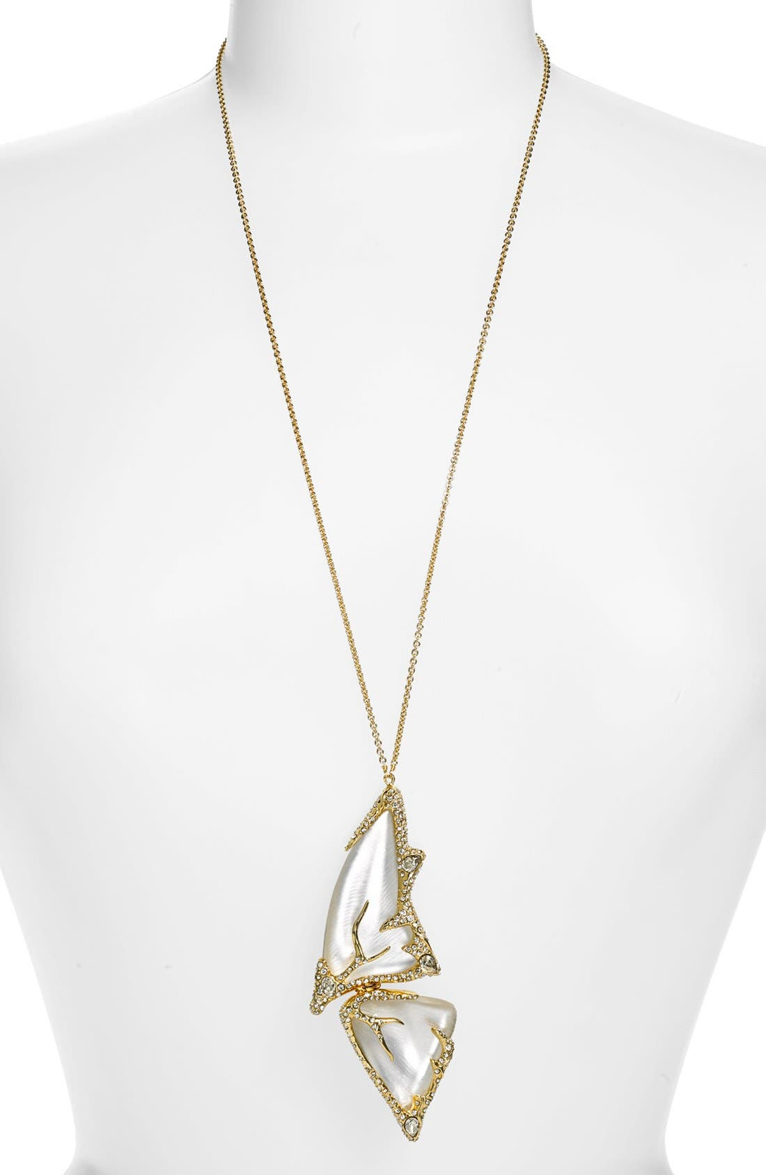 Main Image - Alexis Bittar 'Lucite® - Jardin Mystère' Long Butterfly Pendant Necklace