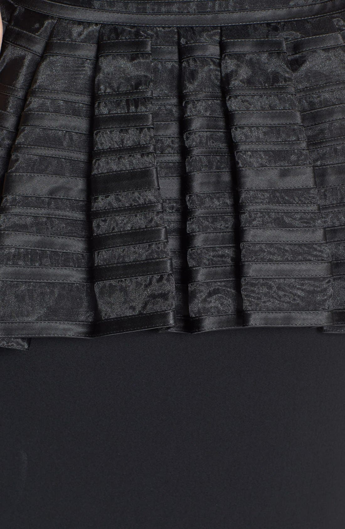 Alternate Image 3  - Halston Heritage One-Shoulder Peplum Mixed Media Dress