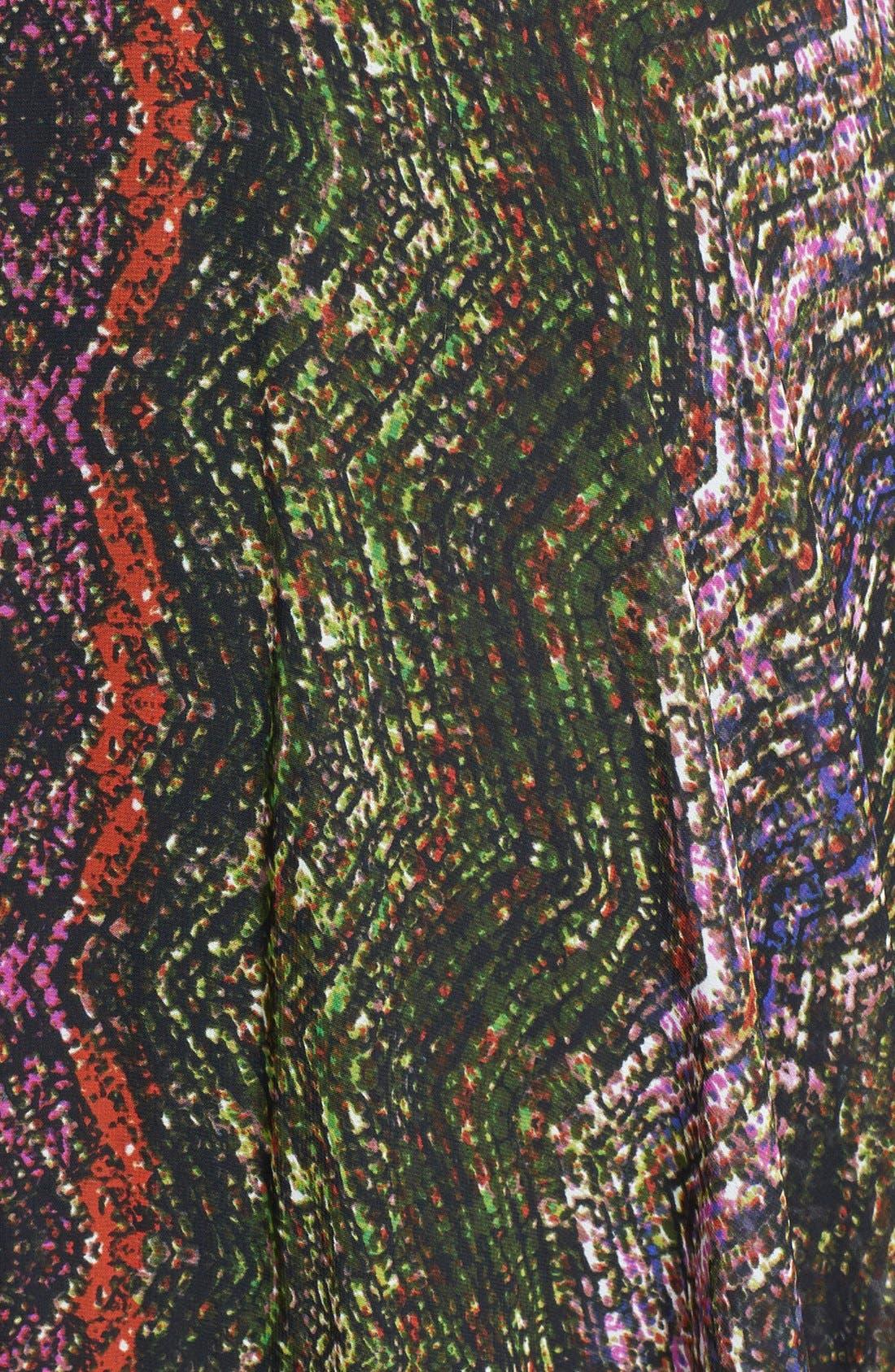 Alternate Image 3  - Ivy & Blu Print Sleeveless High/Low Dress (Plus Size)