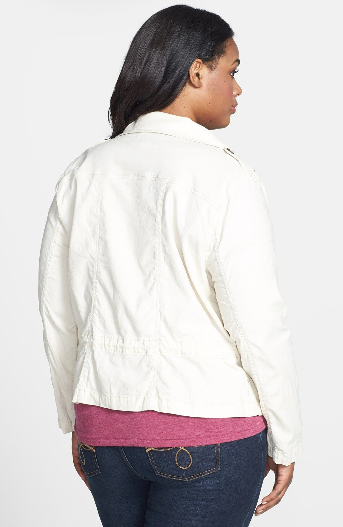 Alternate Image 2  - Lucky Brand 'Dixon' Linen Blend Jacket (Plus Size)