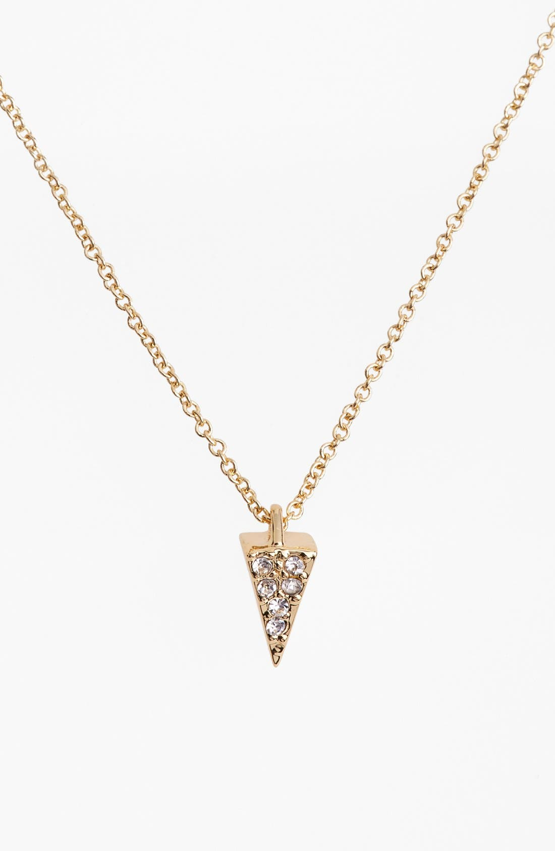 Main Image - Rebecca Minkoff 'Jewel Box' Pavé Mini Spike Pendant Necklace