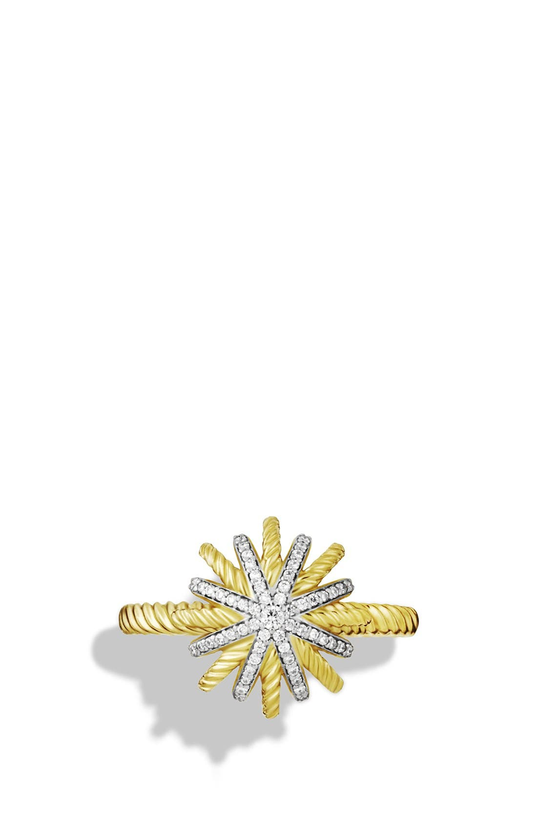 Alternate Image 3  - David Yurman 'Starburst' Ring with Diamonds in Gold
