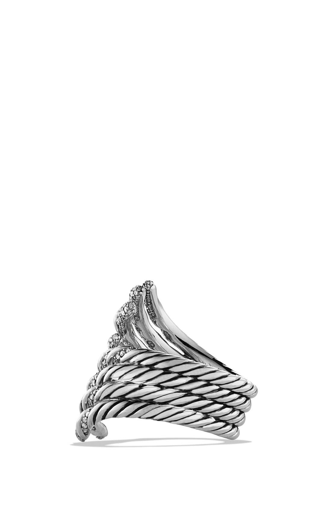 Alternate Image 2  - David Yurman 'Willow' Open Four-Row Ring with Diamonds
