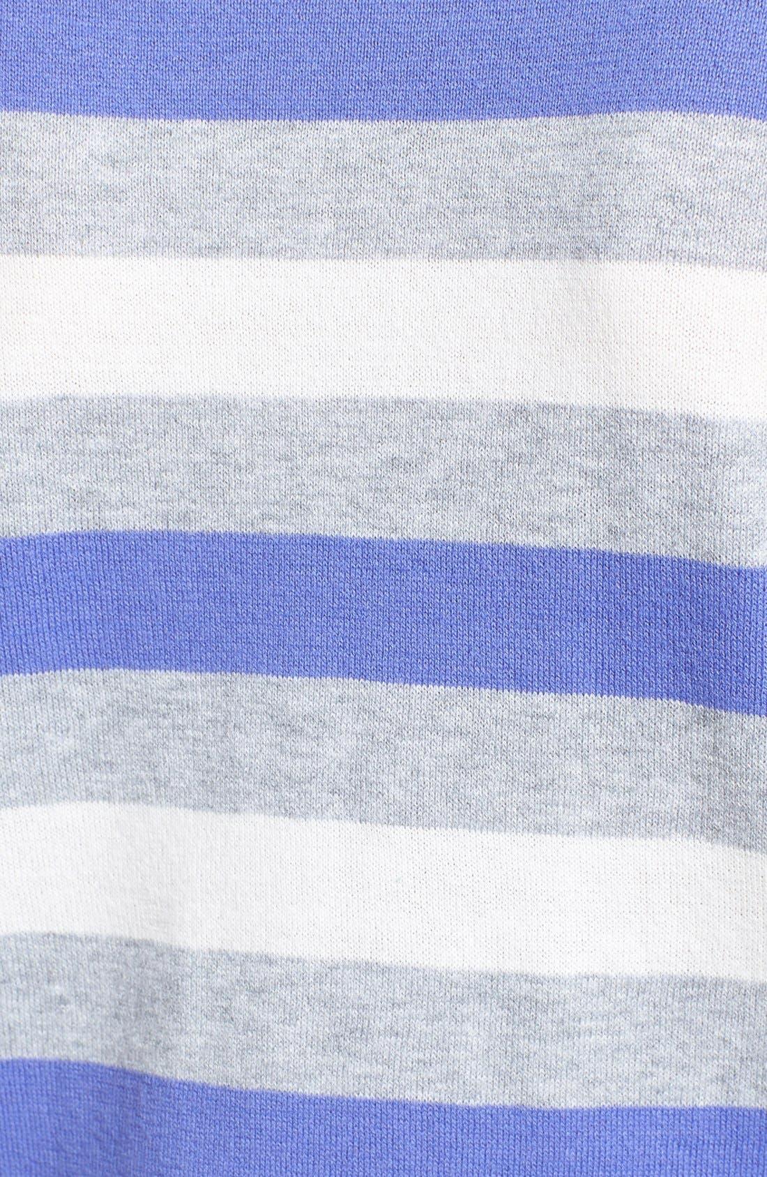 Alternate Image 3  - Vince Camuto Stripe Crewneck Sweater (Petite)